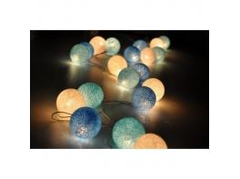 Тайские гирлянды хлопковые шарики 20 больших шариков