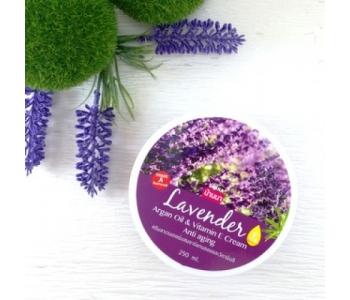Lavender Argan Oil & Vitamin E Cream Anti-aging крем для тела с лавандой Banna 250 мл