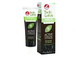 Twin Lotus Active Charcoal черная зубная паста 100 гр