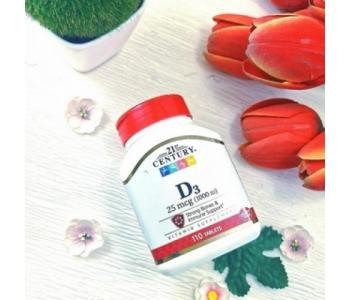 Витамин Д3 холекальциферол Century 25 mcg 1000 IU, 110 таблеток