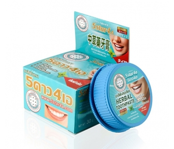 5STAR4A Herbal toothpaste Original зубная паста мятная 25 г