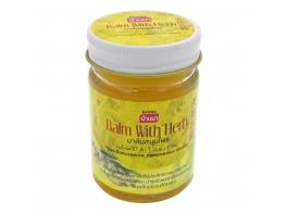 Balm With Herb Yellow желтый бальзам с имбирем помогает от укуса насекомых Banna 50 гр