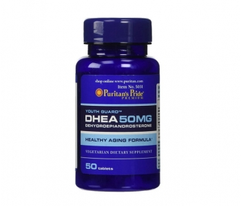 DHEA Dehydroepiandrosterone гормон ДГЭА дегидроэпиандростерон Puritans Pride 50 мг. 100 штук