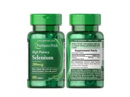 Selenium Селен органический 200 мг. 100 таблеток