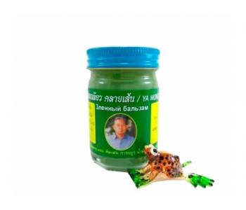 Тайский зеленый травяной бальзам Ya Mong Sarad Pang Pon 50 гр