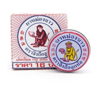 Тайский бальзам от насморка White monkey holding Peach 8 гр