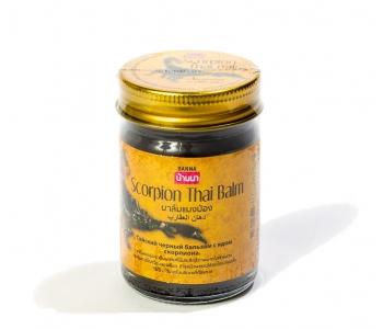 Тайский черный бальзам с ядом скорпиона Scorpion Thai Balm Banna 50 гр