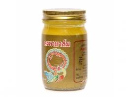 Kongka balm желтый имбирный бальзам тайских целителей применяется для кожи тела 50 гр.
