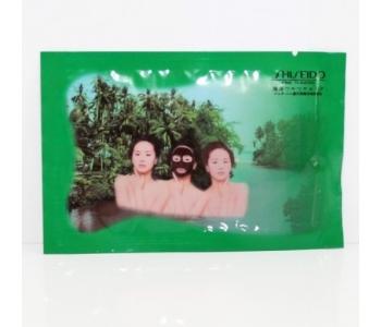 Угольная маска с экстрактом морских бурых водорослей Shiseido 15 гр