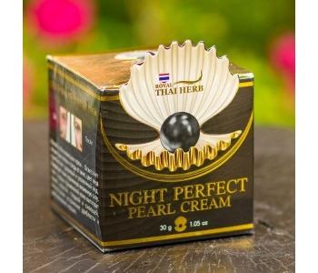 Увлажняющий крем для лица черный Жемчуг Night perfect Pearl cream 30 гр