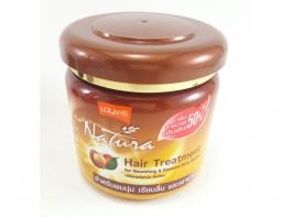 Маска возвращает гладкость и блеск волос с маслом Макадамии Lolane Natura 250 гр