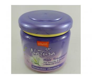 Выпрямляющая маска для волос с белой лилией Lolane Nature White Lily extract 250 гр