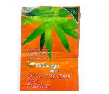 Маска для лица из зеленой глины Sabunga 10 гр