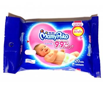 Детские влажные салфетки успокаивающие MamyPoko 20 шт