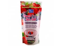Соль морская для массажа с экстрактами растений Mixed Berry Spa Salt 300 гр