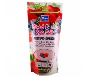 Соль морская для массажа с экстрактами растений Mixed Berry Spa Salt 300 гр – инструкция по применению
