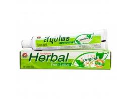 Черная лечебная зубная паста TWIN LOTUS тайская из растительных компонентов 100 гр