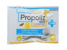 Средство от кашля с прополисом Propoliz Mixs Lozenge 15 пастилок