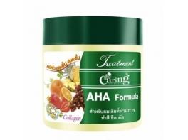 Caring AHA Formula маска для волос с фруктами и коллагеном 500 гр