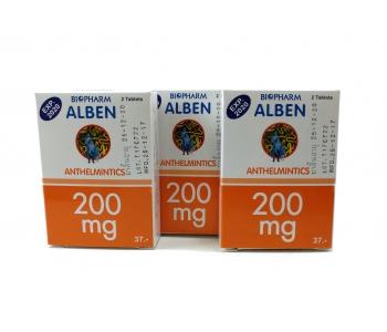 Alben препарат от глистов широкого спектра 250 мг 3 шт
