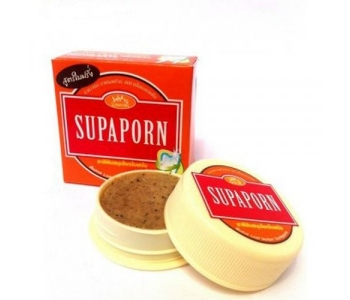 Тайская отбеливающая зубная паста Supaporn в баночке с гуавой 25 гр