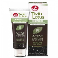 Зубная паста тайская угольная Twin Lotus Active Charcoal 150 гр