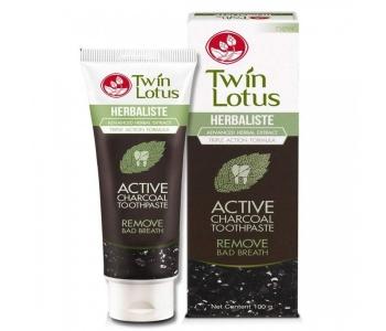 Зубная паста тайская угольная Twin Lotus Active Charcoal 150 гр