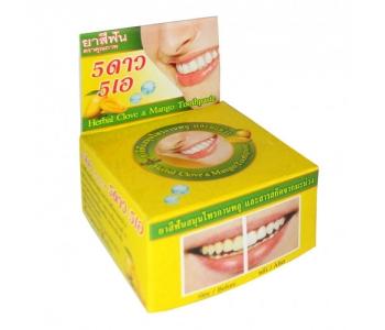 Зубная паста из Таиланда круглая Манго 5 Stars 25 гр