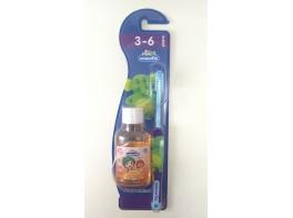 Детская зубная щетка и ополаскиватель для детей от 3 до 6 лет Kodomo Professional