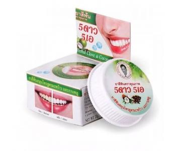 Тайская травяная зубная паста с Кокосом 5 Stars 25 гр