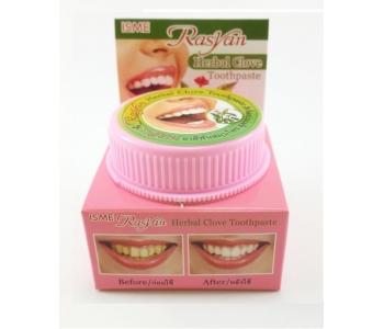 Травяная тайская зубная паста с отбеливающим эффектом RasYan Herbal Clove Isme 25 гр