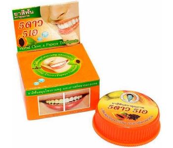 Тайская зубная паста с папайей 5Stars 25 гр