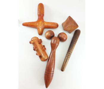 Палочки массажные из кокоса набор в сумочке