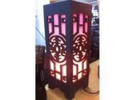 Светильник деревянный в тайском стиле складной