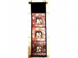 Предмет интерьера вышитое пано в тайском стиле со слонами