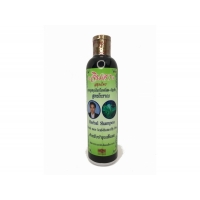 Herbal Shampoo Fresh mee leaf + Butterfly Pea шампунь Джинда от выпадения волос с рисовым молочком 250 мл