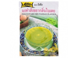 Натуральный крем-пудинг быстрого приготовления Lobo Thai Custard Pandan 120 гр